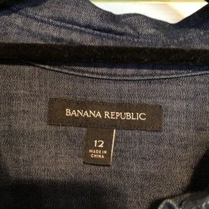 Size 12 Banana Republic button front dress